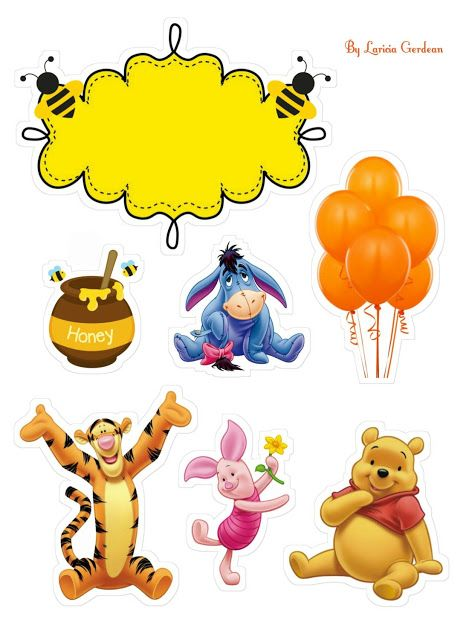 Winnie The Pooh Free Printable Cake Toppers Winnie The Pooh Cake Winnie The Pooh Friends Cute Winnie The Pooh