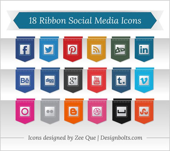 20 Free Social Media Icon Sets for your website/blog. #SocialMediaNix #SocialMedia #SocialMediaIcons