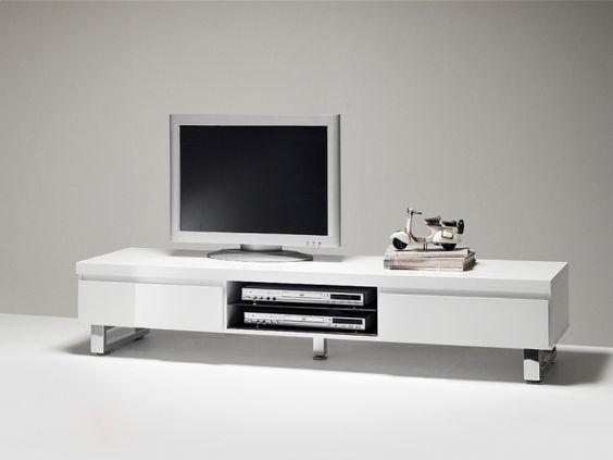 Tv schrank weiß hochglanz  Lowboard Canberra TV-Schrank Weiß Hochglanz HiFi-Möbel 8904. Buy ...