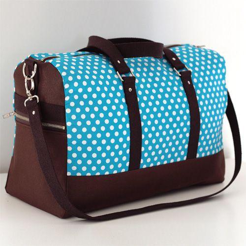 Patron sac weekend Boston - Sacôtin #couture Un très beau sac à coudre pas à pas!