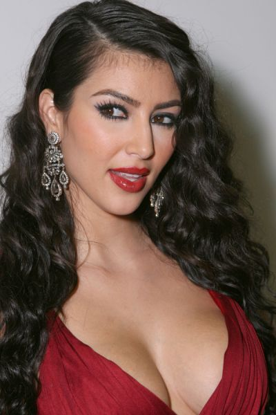 Red dress kim kardashian face