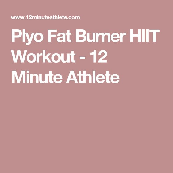 Plyo Fat Burner HIIT Workout - 12 Minute Athlete