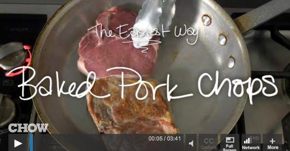 Easy baked pork chops, Baked pork chops and Baked pork on Pinterest