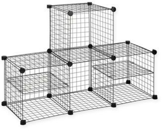 Bed Bath Beyond Grid Wire Modular Shelving And Storage Cubes
