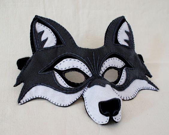 wolf mask pdf pattern muster masken und w lfe. Black Bedroom Furniture Sets. Home Design Ideas
