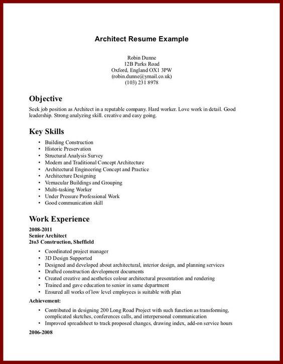 sample high school graduate resume work experience manhattan skin - senior architect resume
