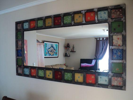 Momento decoraci n espejos artesanales con vitrofusi n for Espejos artesanales