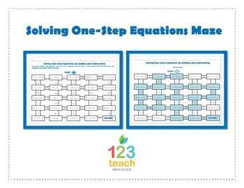 Printables Solving Equations By Adding Or Subtracting Worksheets maze solving one step equations by adding or subtracting activity and subtracting