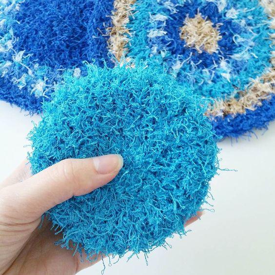 Free Crochet Patterns For Scrubby Yarn : Red Heart Scrubby CROCHET DISHCLOTH/SCRUBBIES ...