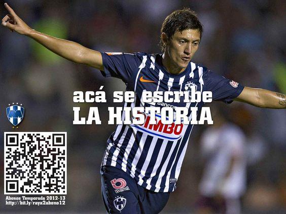 El futbol no se ve, ¡se vive! La Historia se escribe en el Estadio. Abonos #Rayados 2012-13  http://bit.ly/raya2abono12