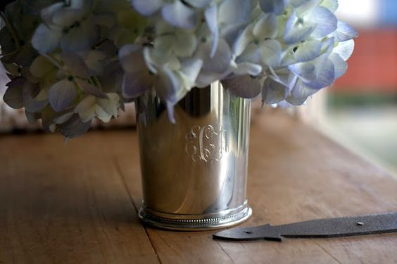monogramed mint julep cup