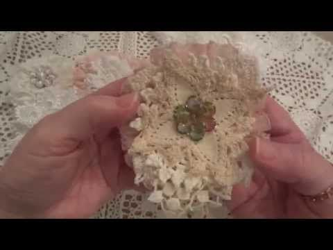 Shabby Chic/Vintage Handmade Fabric Flowers Project Share! - YouTube