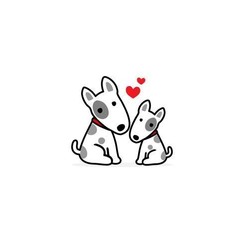Fondo Del Blanco De La Historieta Del Perro De La Mama Y Del Bebe Cartoon Dog Baby Dogs Cartoon