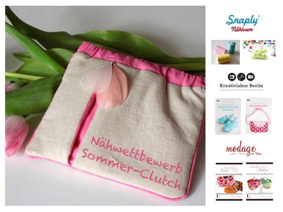 Snaply-Magazin: DIY Sommer-Clutch mit Federverschluss & Nähwettbewerb