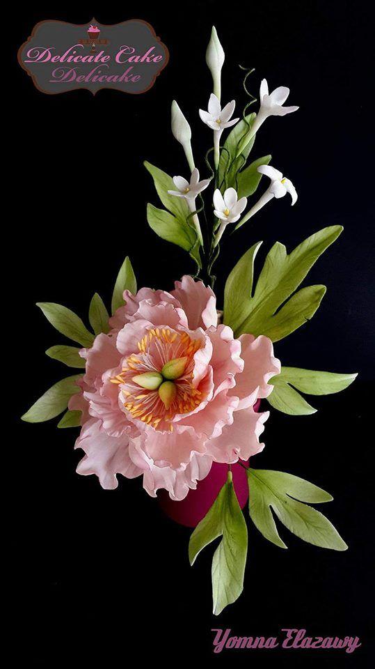 Sugar Peony And Jasmines Peonies Sugar Flowers Jasmine