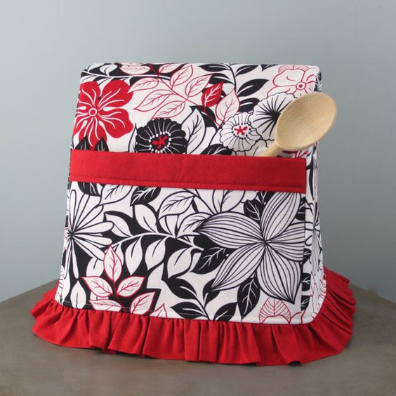 Stand Mixer Cover- Leilani- Available in Two Sizes. Choice of Ruffled or Tailored Skirt.