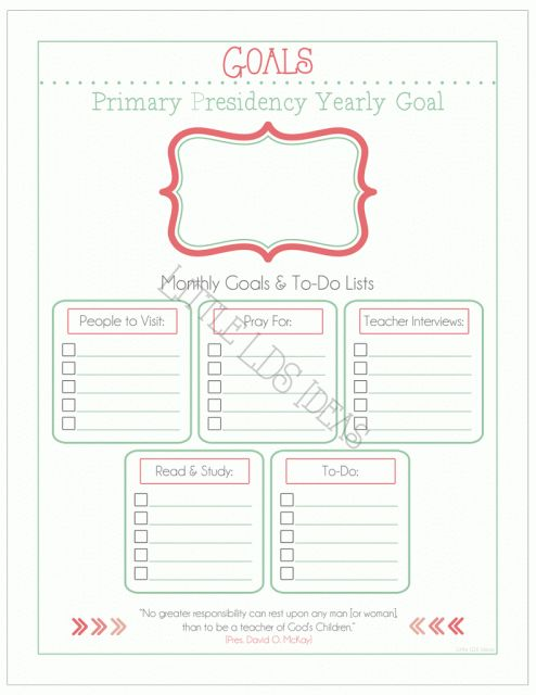 {Primary} 2015 Primary Presidency Planner Sheets - Little LDS IdeasLittle LDS Ideas