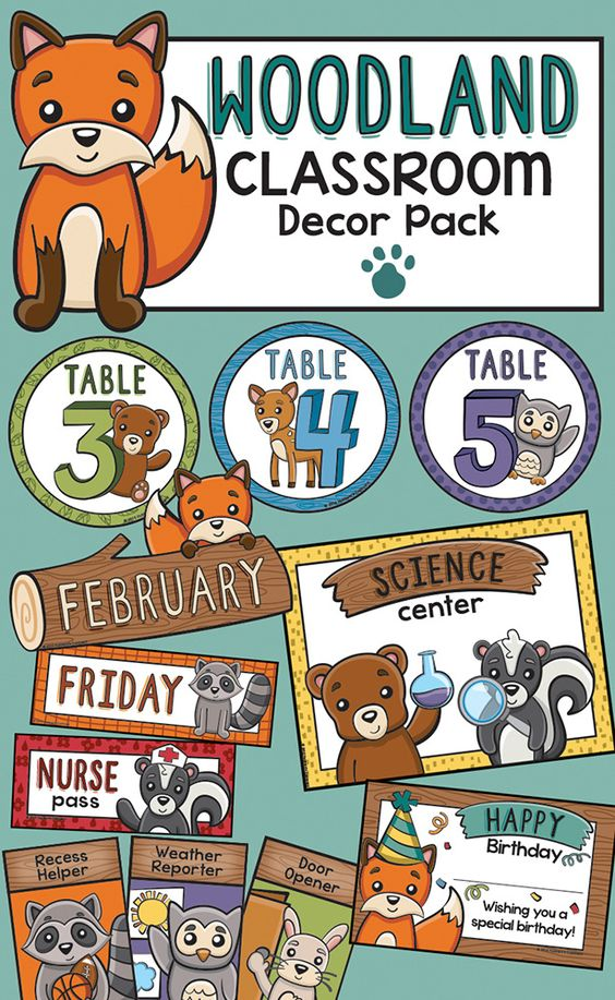 Woodland Classroom Decor ~ Decor animals and forests on pinterest