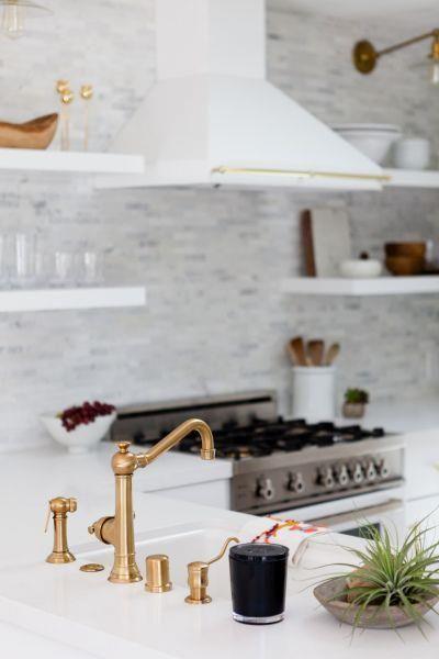 Pretty white marble   Pretty white marble kitchen:  www.stylemepretty...