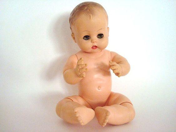 Vintage Effanbee 1959 BabyDoll by VintageCharmPlace on Etsy, $25.00