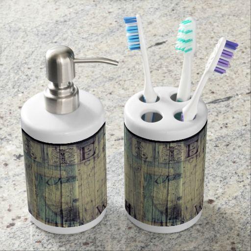 Starfish  Toothbrush Holder & Soap Dispenser
