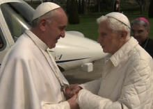 "Pope Francis to Benedict: ""We are brothers"" - CBS News"