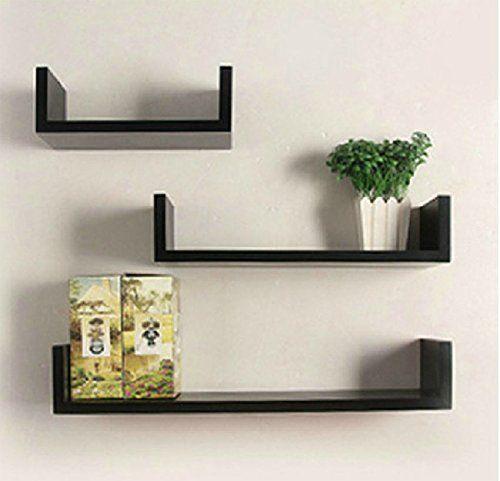 Set Of 3 Floating Shelves U Shape Wall Mounted Bookshelf Https Www Amazon Com Dp B0 Prateleiras Flutuantes Prateleira De Parede Decoracao Com Prateleiras