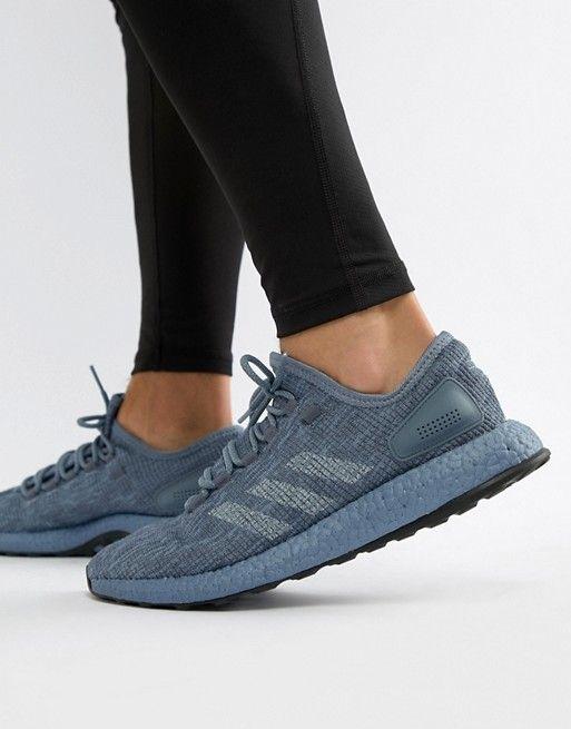 adidas performance PureBoost sneakers in gray cm8303   Men's