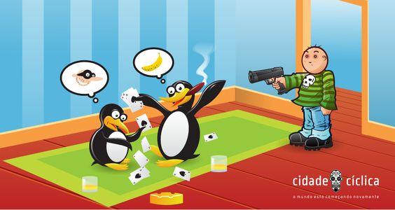 Ilustração Menino armado