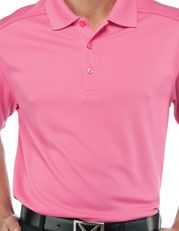 Big-hitting Spaniard Alvaro Quiros will wear this Chev Polo from Callaway Golf. This color is called Carmine Rose.
