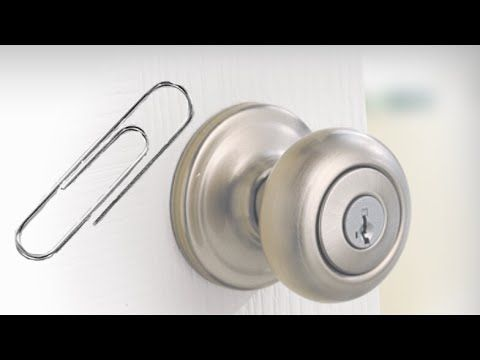 How To Pick A Lock With A Paper Clip Youtube Paper Clip Life Hacks Youtube Tiny Idea