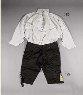 The shirt that Louis XVI changed out of on the morning of his execution, 21 January 1793, kept by the family of the King's valet de chambre Clery (along with a pair of the King's pants), until 1882.