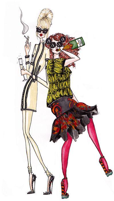 """Fabulous old booze-bags Patsy & Edina of Absolutely Fabulous."""