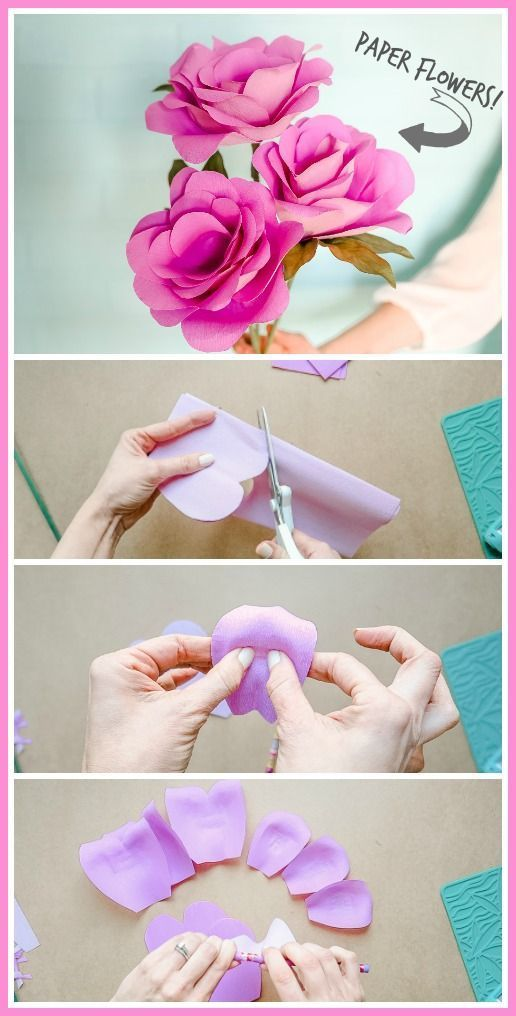 Simple Paper Flowers Paper Flowers Easy Paper Flowers Bee Crafts
