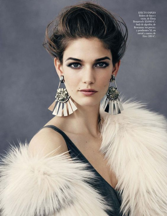 Kendra Spears by Ben Weller for Vogue Spain (February 2013).