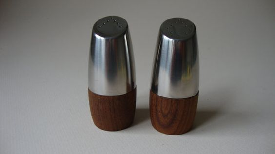 Teak Salt and Pepper Sweden. by bittercressMCM on Etsy, $22.00