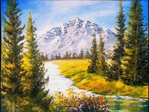 Majestic Mountains Oil Pastel Tutorial Youtube Oil Pastel Drawings Scenery Paintings Oil Pastel Techniques