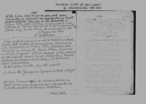 Jacarezinho com amor - UOL Fotoblog - Primeiro Batizado 20 de janeiro de 1889