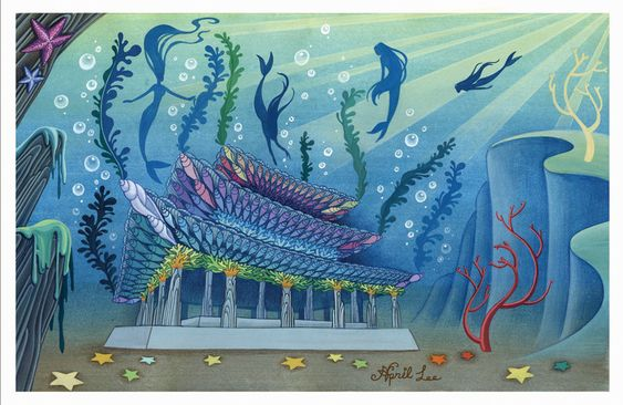 Asian mermaids' palace by snuapril01 on DeviantArt