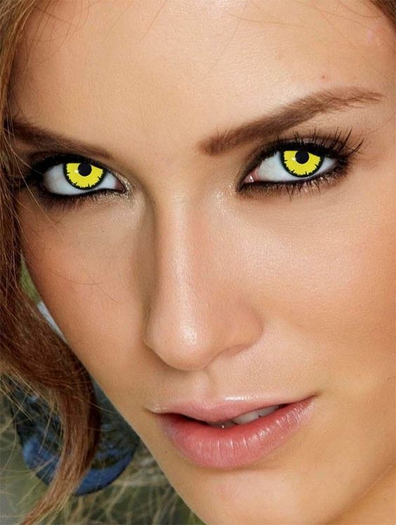 Yellow Eye Lenses Pinterest • T...