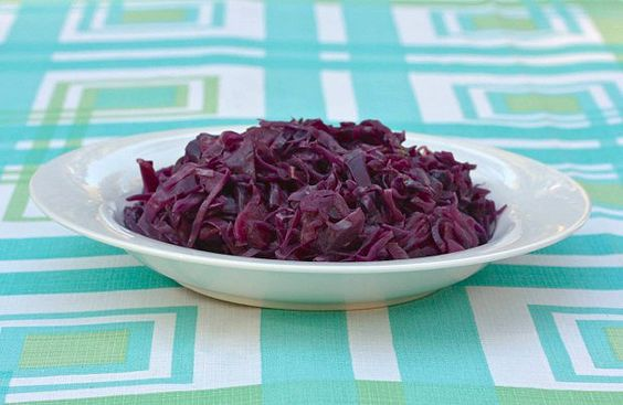 Braised Red Cabbage with Apple and Beer by Cathy Eats