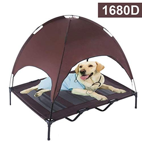 10 Best Canopy Dog Beds For Outdoor Use Elevated Dog Bed Dog Canopy Bed Dog Cots