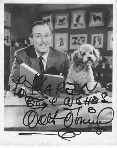 Walt Disney Autographed Photo!: