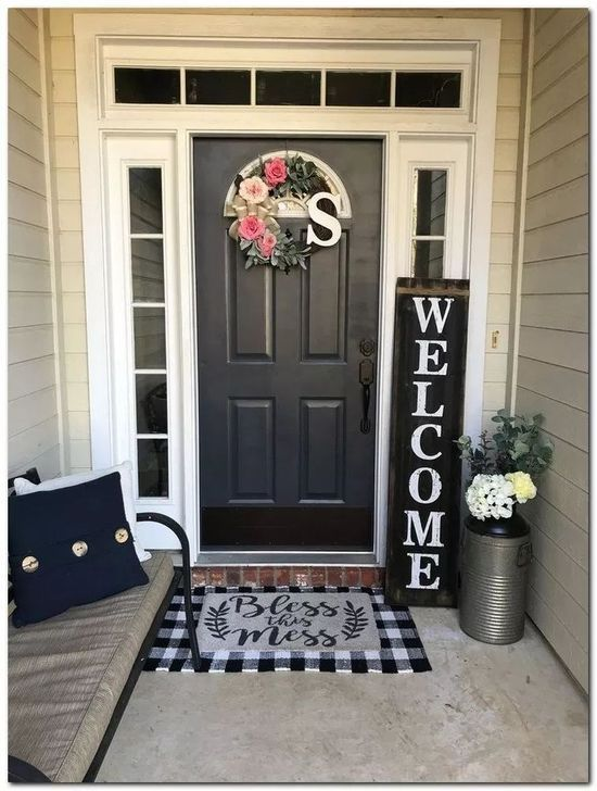 47 Best Farmhouse Porch Decor Ideas To Try Right Now In 2020 Small Porch Decorating Front Porch Decorating Spring Home Decor
