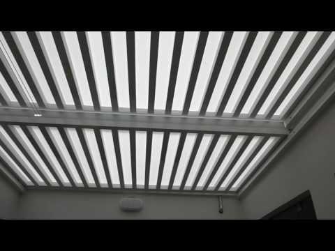 Techo De Policarbonato Corredizo Sol Y Sombra En Estructura