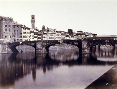 Ponte Santa Trinita, Florence 1850s: