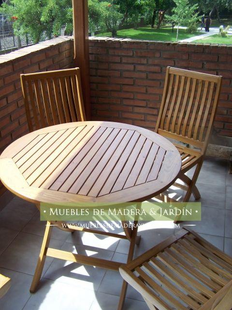 Mesas redondas madera