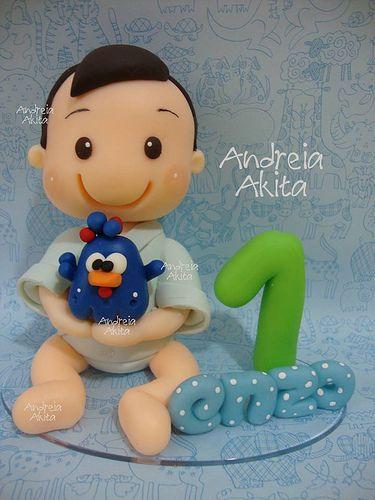 Topo de bolo e as tampinhas dos potes decorados !! Contato e orçamento : andreiaakita@gmail.com | Flickr - Photo Sharing!