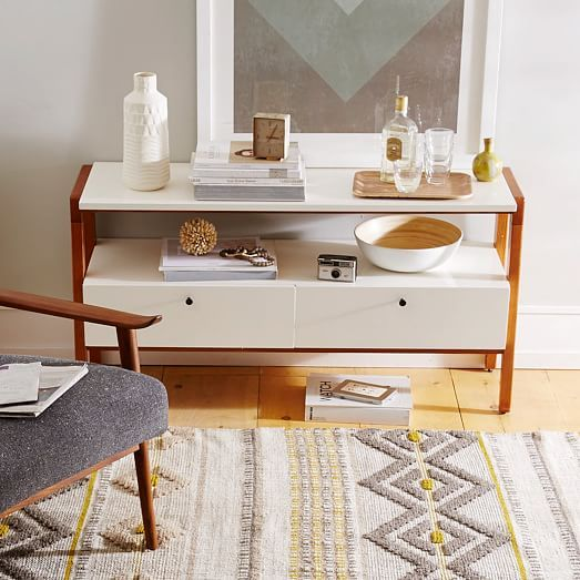 behind couch?  $699  Modern Media Console - Small | west elm