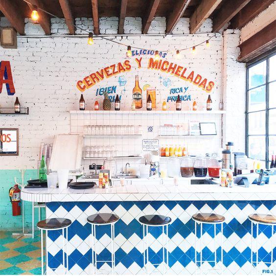 Tacombi Mexican restaurant interior design in New York City